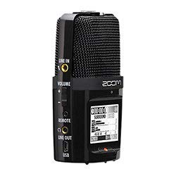 Zoom H2n Stereo/Surround-Sound Portable Recorder, 5 Built-In Microphones, X/Y, Mid-Side, Surround...