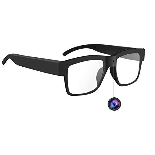 Camera Glasses 1080P,HD Mini Video Glasses Max 32GB Memory Card - Eye Glasses with Camera - Wearable...
