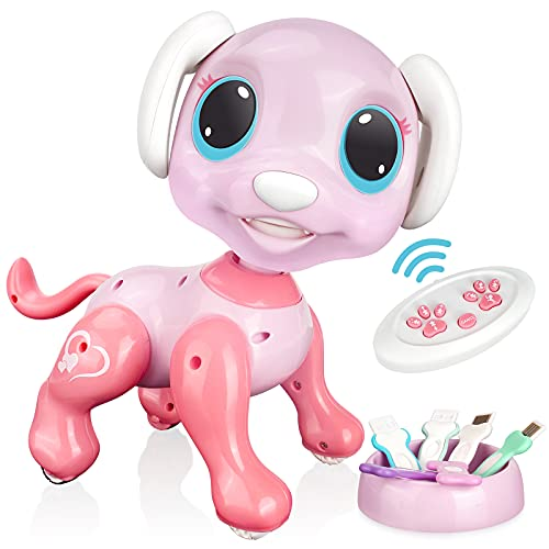RACPNEL Remote Control Robot Dog Toy