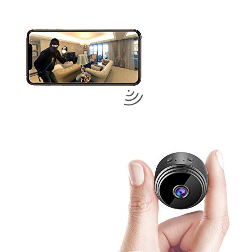 AREBI Spy Camera Wireless Hidden WiFi Mini Camera HD 1080P Portable Home Security Cameras Covert...