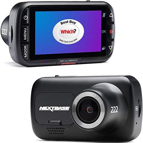 """Nextbase 222 Dash Cam Small- Full 1080p/30fps HD Loop Recording in Car Camera- 2.5"""" Screen- 6 Lane..."""
