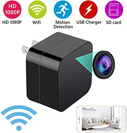 2 in 1 Mini Hidden Spy Camera and USB Charger - Wireless Hidden Camera USB Security Camera Supports...