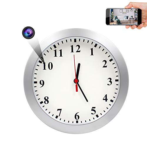 Spy Hidden Wall Clock Camera, AMCSXH HD 1080P WiFi Camera Wall Clock, Security for Home and Office,...
