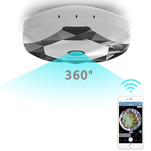 Antaivision 960P WiFi IP Security Home Network Dome Camera for Home Surveillance, Fisheye 360°...