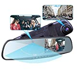 Provision-ISR Hidden Dual Dash Cam, Best Rear View Mirror Camera for Uber Lyft Drivers and HD 1080p...