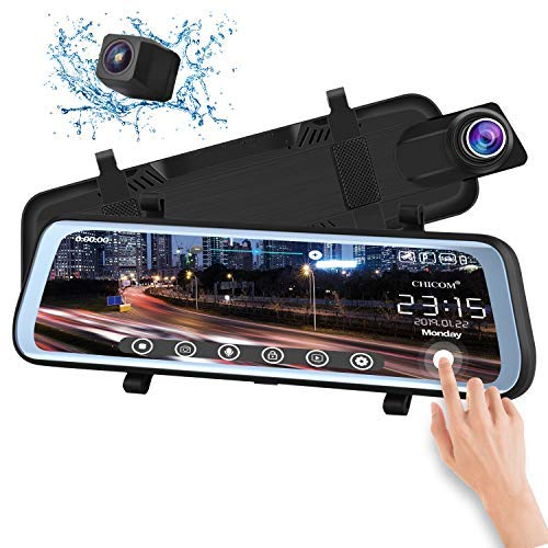 CHICOM V21 9.66 inch Mirror Dash Cam Touch Full Screen